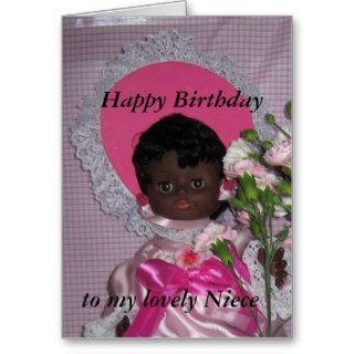 Happy birthday niece black doll card