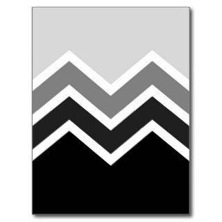 Postcard Retro Zig Zag Chevron Pattern