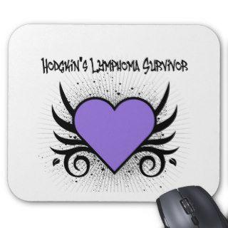 Hodgkin's Disease Survivor Heart Tattoo Mouse Pads