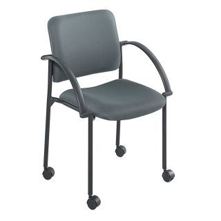 Safco Moto Mobile Stack Chairs 31 34 H x 23 12 x 31 34 D Charcoal Fabric Set Of 2