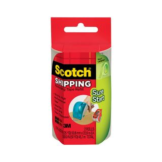 Scotch Sure Start Shipping Tape 15 Core 188 x 25 Yd Pack Of 2 Rolls