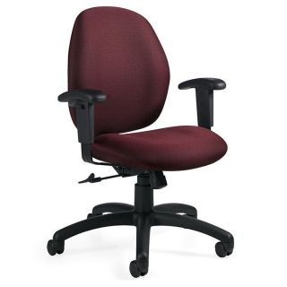 Global Graham Pneumatic Ergo Tilter Chair 37 12 H x 25 W x 26 D Black Frame Rhapsody Fabric