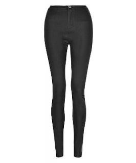 Black Coated Disco Pants