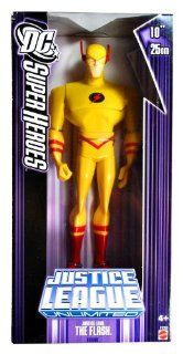 Mattel Year 2007 DC Super Heroes Justice League Unlimited Series 10 Inch Tall Action Figure   Justice Lord THE FLASH in Yellow Costume(K9388): Toys & Games