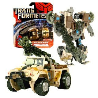 Hasbro Year 2007 Transformers Movie All Spark Power Series Scout Class 4 1/2 Inch Tall Robot Action Figure   Autobot CROSSHAIRS with Energon Weapon (Vehicle Mode: All Terrain Jeep): Toys & Games