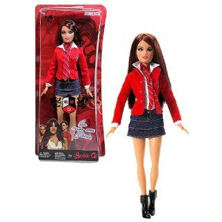 Mattel Year 2007 Barbie TV Series REBELDE RBD 12 Inch Doll   ROBERTA PARDO with Elite Way School Uniform, Denim Skirts and Black Boots (L8426): Toys & Games
