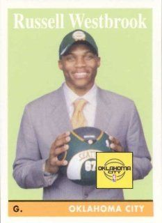 Russell Westbrook 2008 2009 Topps 1958 59 Variations Mint Rookie Year Parallel Card #199 Picturing This Oklahoma City Thunder Star in His Seattle Supersonics Hat!: Everything Else