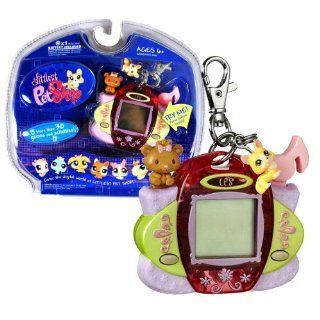 """Hasbro Year 2007 Littlest Pet Shop Digital Pets """"Care For Me"""" Series Virtual Game   CORGI DOG Digital Game with Charms , Clip for On the Go Fun and 30 Games and Activities Toys & Games"""