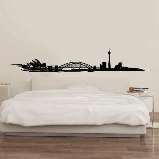 Wandtattoo   Skyline Sydney   100 x 17 cm   Schwarz: Küche & Haushalt