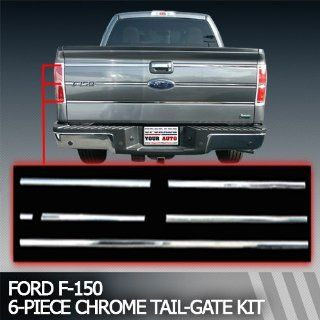 "2009 2012 Ford F 150 Chrome Tail Gate Trim ""6 Piece Kit"": Automotive"