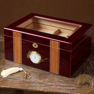 Christopher Knight Home Cherry Wood Glass Top Humidor Christopher Knight Home Humidors