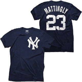 New York Yankees Don Mattingly Cooperstown Name & Number T Shirt by Majestic Threads : Sports Fan T Shirts : Sports & Outdoors