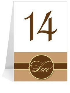 Wedding Table Number Cards   Sophisticate Dove Grey 'High' #1 Thru #18: Office Products