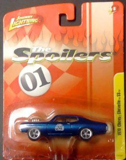 "2011 Johnny Lightning ""The Spoilers"" 1970 Chevy Chevelle SS 1:64 die cast car release 8 (blue w/ racing number 24): Toys & Games"