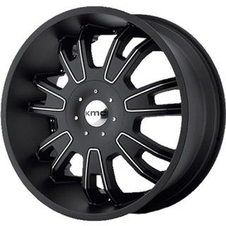 KMC KM664 22x9.5 Black Wheel / Rim 5x4.25 & 5x4.5 with a 38mm Offset and a 72.60 Hub Bore. Partnumber KM66422901738: Automotive