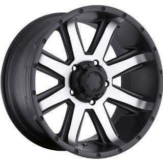 Ultra Crusher 15 Machined Black Wheel / Rim 5x4.5 with a  19mm Offset and a 82 Hub Bore. Partnumber 195 5865U: Automotive