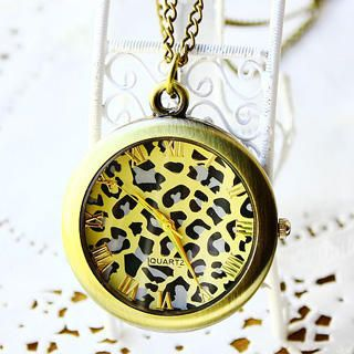 Leopard Pocket Watch   Copper, Copper , One Size   Fit to Kill