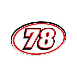 78 Number   Jersey Racing Window Bumper Sticker Automotive