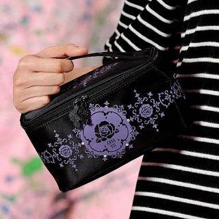 Black Sequins Cosmetic Bag, 1 pc   Anna Sui