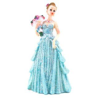 Iwedding123 Blue Mis Quince Anos Quinceanera Figurine Statue Fifteen Party Favor Cake Topper: Kitchen & Dining