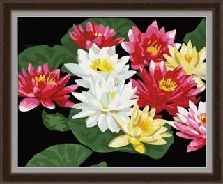 Lotus in Summer Acrylic (2013 New DIY paint by number 16*20'' kit) Arts, Crafts & Sewing