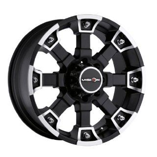 20 inch 20x9 Visino Off Road Brutal Matte Black Machined Face wheel rim; 5x5.5 5x139.7 bolt pattern with a +18 offset. Part Number 392 2985MB18 Automotive