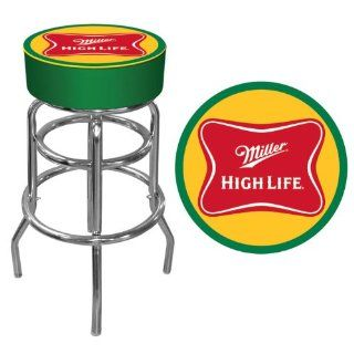 Miller High Life Logo Padded Bar Stool   Game Room Products Pub Stool Beer Logos: Everything Else