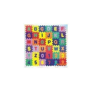 "Alphabet Letters & Numbers Educational Foam Puzzle Floor Mat for Kids + 72 Interlocking Pieces, 6""x6"" Squares Blocks, Covers 18 sq ft: Toys & Games"