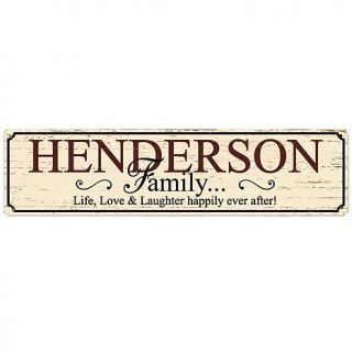 "Personal Creations 5"" x 20"" Rustic Metal Family Sign"