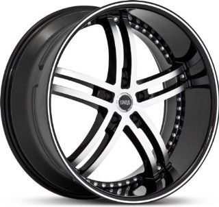 STATUS WHEEL   knight 5   24 Inch Rim x 9   (5x4.75) Offset (32) Wheel Finish   gloss black machined face: Automotive
