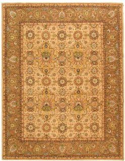 "4' x 6' Rectangular Safavieh Area Rug PC460A 4 Ivory/Taupe Color Hand Tufted China ""Persian Court Collection"""
