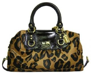 Coach Madison Ocelot Leopard Animal Print Sabrina Bag Purse Brown Shoes