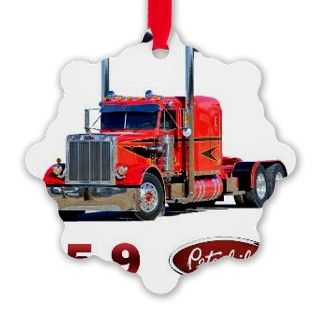 359 Red Peterbilt Semi Truck Ornament by ADMIN_CP113552117