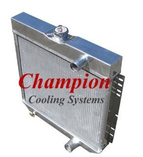 3 Row All Aluminum Replacement Radiator for 1967 70 Ford Mustang, 1963 69 Ford Fairlane, 1966 70 Ford Falcon, 1964 68 Ford Galaxie, 1964 68 Ford Country Sedan or Squire, 1967 68 Ford LTD, 1968 69 Ford Torino, 1967 68 Mercury Cougar/XR7  Manufactured by Cha