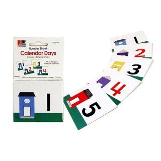 American Educational Card Calendar Days Number Line (36 Piece Set) Industrial & Scientific