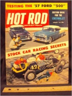 1957 57 JAN January HOT ROD Magazine, Volume 10 Number # 1: Trend Inc.: Books