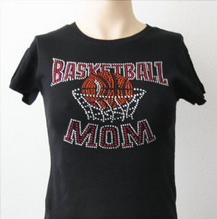 Rhinestone Sports Basketball Mom T Shirt Size Misses Medium: Everything Else