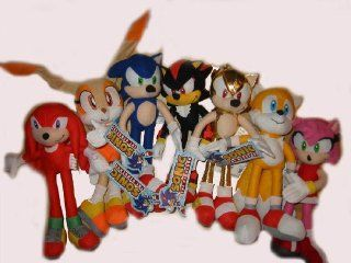 Sega Sonic X HedgeHog Complete Set Shadow Tails Knuckles Cream Super Amy Plush Doll Figure Toy: Toys & Games