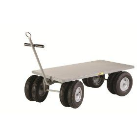 "Little Giant CD 3672 16PFD CR Flush Deck Edge 8 Wheeler Wagon Truck, 3000 lbs Capacity, 72"" Length x 36"" Width: Platform Trucks: Industrial & Scientific"