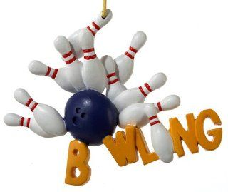Bowling Pins and Ball Christmas Ornament: Sports & Outdoors