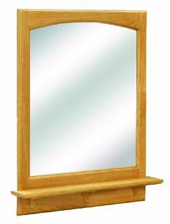 Design House 530634 Richland Ready To Assemble Mirror with Shelf, Nutmeg Oak, 26 Inch: Home Improvement
