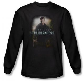 Star Trek Into Darkness Rises Darkness James Kirk 2013 Movie Long Sleeve T Shirt: Clothing