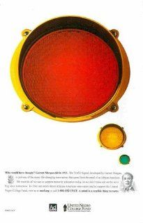 United Negro College Fund UNCF: Garrett Morgan Traffic Signal: Black History: Great Original Print Ad! : Everything Else