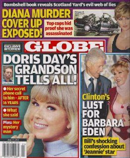 Doris Day, Princess Diana, Bill Clinton, Barbara Eden, Russell Crowe   June 17, 2013 Globe Magazine: American Media: Books
