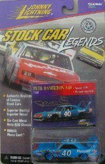 "Johnny Lightning   ""Stock Car Legends""   1998   Pete Hamilton   No. 40 Plymouth Superbird   164 Scale Die Cast Replica Car and Collector Car   NASCAR"