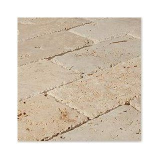 "Travertine Pavers Tuscany Beige / 6""x12""x3cm / Tumbled : Marble Tiles : Patio, Lawn & Garden"