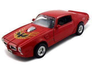 "1973 Pontiac Firebird Trans Am ""American Graffiti"" Diecast Car Model 1/24 Red Die Cast Car by Motormax Toys & Games"
