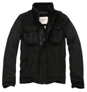 Abercrombie & Fitch Dix Range Wool Blend Military Jacket (Small) at  Men�s Clothing store