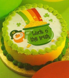 St Patricks Day Pot of Gold ~ Edible Image Cake Topper