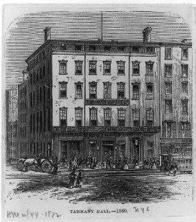 New York City, Tammany Hotel Hall 1860, engraved in 1872   Prints